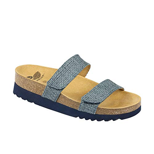 Dr.scholl lusaka ciabatta in canvas due vekcro (38, denim)