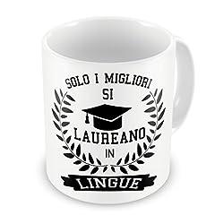 Idea Regalo - iMage Tazza Laurea Lingue università Regalo Laureato - Eventi