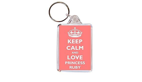 "/""Keep Calm and Love Unicorns/"" Keyring Birthday Gift"