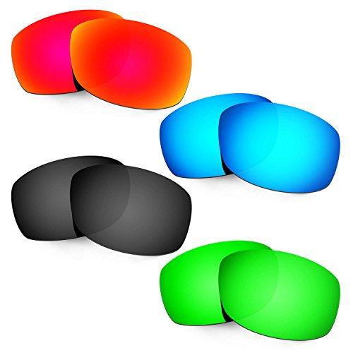 HKUCO Mens Replacement Lenses For Costa Zane Red/Blue/Black/Emerald Green Sunglasses