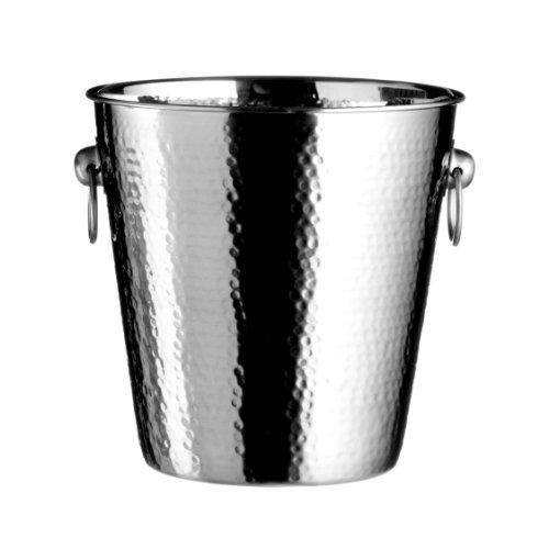 Premier Housewares Secchiello per lo Champagne in acciaio INOX con effetto battuto, 20 X 22 X 22 cm