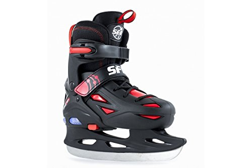 sfr-eclipse-adjustable-light-up-junior-kids-ice-skates-black-red-3-6