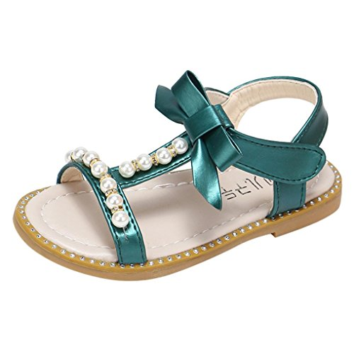 Sandals Kids,Ba Zha  Kids Baby Girls Sandals Bowknot Pearl Crystal Roman Sandals Princess Shoes Sneakers Sandals Newborn Sandals Slippers Boots Flats Slip-On Single Shoes Beach 0-6 Years Old