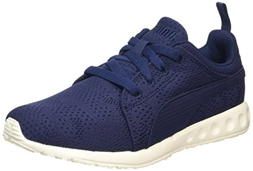 Puma Carson Runner Camo Mesh Eea, Chaussures de Running Compétition Mixte Adulte Bleu (Peacoat-whisper White 15)