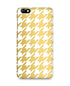 AMEZ designer printed 3d premium high quality back case cover for Huawei Honor 4X (gold white pattern)