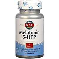 Melatonin con 5-Htp Accion Retardada 60 comprimidos de 1,9 mg de Solaray