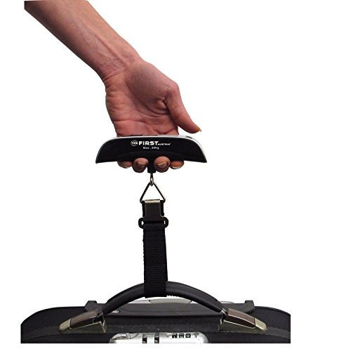 Preisvergleich Produktbild Digitale Kofferwaage 50 KG / 50g mit Thermometer Gepäckwaage Hängewaage