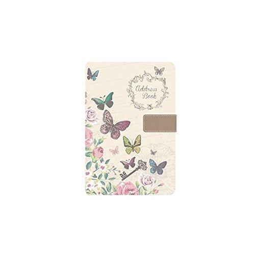 A5 Adresse BUCH - Wunderschön Stoff Stil - Schmetterling oder chic Design - Tallon 6252