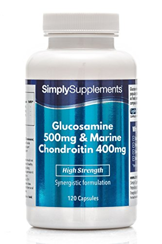 Glucosamin 500mg & Chondroitin 400mg - 120 Kapseln - Unterstützung für einen aktiven Lebensstil - Simply Supplements -