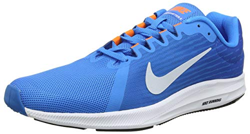 Nike downshifter 8, scarpe running uomo, multicolore (blue hero/football grey/cobalt blaze 403), 45.5 eu
