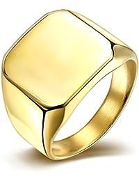 Punk estilo chapado en oro anillo de acero inoxidable para hombres tgr023-a-8