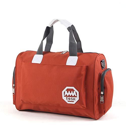 ZXW Borsa da viaggio Borsa da viaggio di grande capacità, borsa vestiti, borsa da viaggio, borsa da viaggio impermeabile, 7 colori (Colore : Orange, dimensioni : 40x20x28cm)