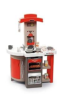 Smoby 7600312202 Tefal Opencook Cocina eléctrica Rojo, Gris, Color Blanco