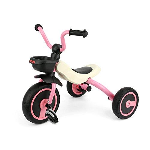 Fascol GOSFUN Triciclo Passeggino Pieghevole Trike per Bambini tra 2 - 5 Anni, Rosa
