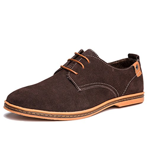 Men's Solid Lace Up Comfortable Oxford Shoes 6