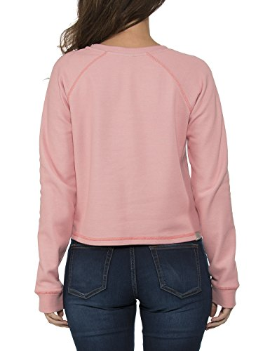 Bench Contemplation - Sweat-shirt - Femme Rose - Rosa (Salmon Rose PK164)