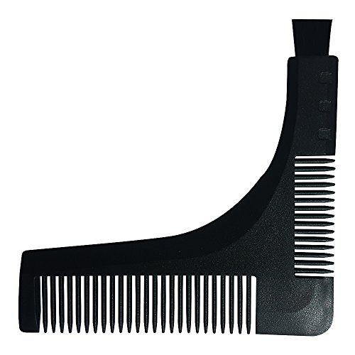 Kabello Premium Quality Beard Shaper Comb With Small Brush For Men (Black)