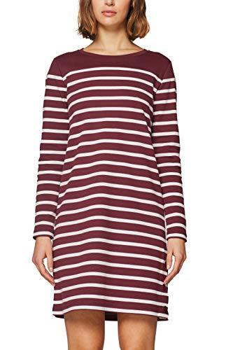 edc by Esprit 128cc1e004, Vestido para Mujer, Rojo (Bordeaux Red 600) Medium