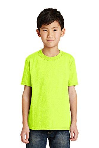 Port & Company Jungen 50/50Baumwolle/Poly T Shirt Gr. Medium, Grün (Safety Green) - Pc55y Port