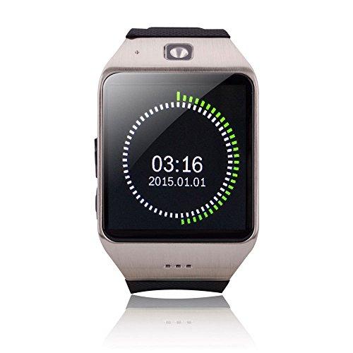 ZHXUANXUAN Bluetooth Intelligente Wear Handy Companion Sport Schritt Detektor Uhr Telefon,Grey-Silver