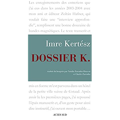 Dossier K. (ROMANS, NOUVELL)