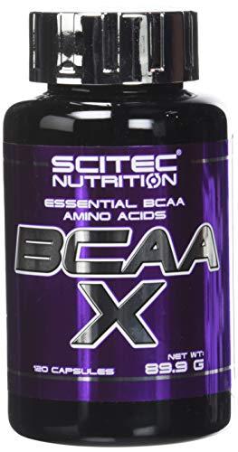 Scitiec nutrition BCAA-X Acide Aminé Ramifié BCAA 120 caps.