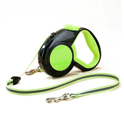 PETCUTE Hundeleine, einziehbare ausziehbare Hundeleine Reflektierende Leine Dog Walking Trainingsleine Einhand-Bremsen für Kleine und Mittlere Hunde und Katzen