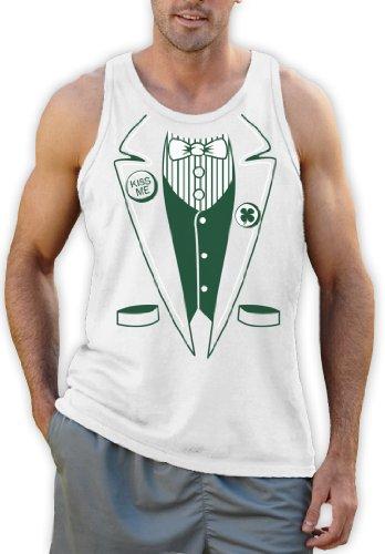 Green Turtle T-Shirts St.Patty Day Irish Tuxedo Weiß Medium Tank Top -
