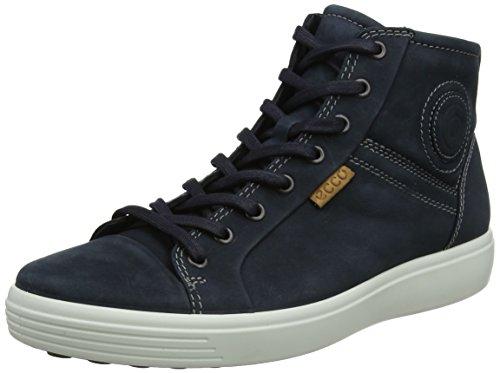 Ecco Herren Soft 7 Men's Hohe Sneaker, Blau (Navy), 45 EU