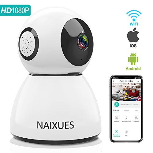 NAIXUES Camara IP WiFi, 1080P Cámara de Vigilancia Inalámbrico de...