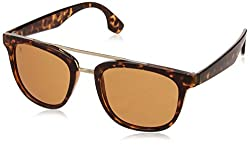 MTV UV Protected Wayfarer Unisex Sunglasses - (MTV-141-C4|50|Brown Color)
