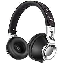 Cuffie, Sound Intone CX-05 Stereo Headset Pieghevole Regolabile Elastico Fascia Compatibile con Smartphones, Ipad, Ipod, PC (Nero)