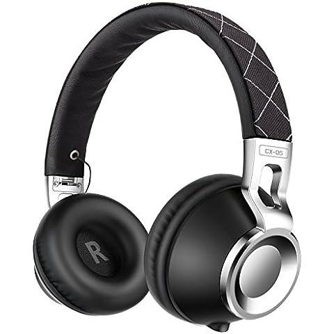 Sound Intone CX05 Diseño de Moda Auriculares Hifi Stéréo con 3.5mm jack con Micrófono Ajustables y Portátiles(Negro)