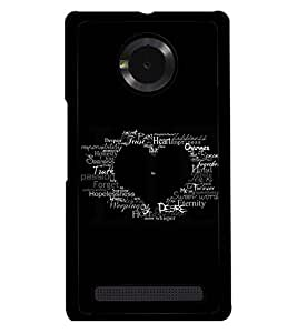 PRINTSWAG TYPOGRAPHY Designer Back Cover Case for MICROMAX YUPHORIA