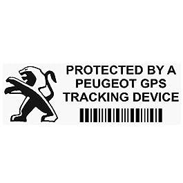 5x Pppeugeotgpsblk GPS nero dispositivo di tracciamento finestra adesivi 87, x, Van allarme Tracker