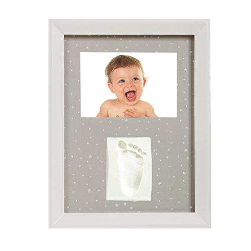 Adora np 109–cornice portafoto con impronte digitali come promemoria da personalizzare in un gesso simili plastilina per mano e/o impronte per il tuo bambino. perfetto per il battesimo come regalo di battesimo