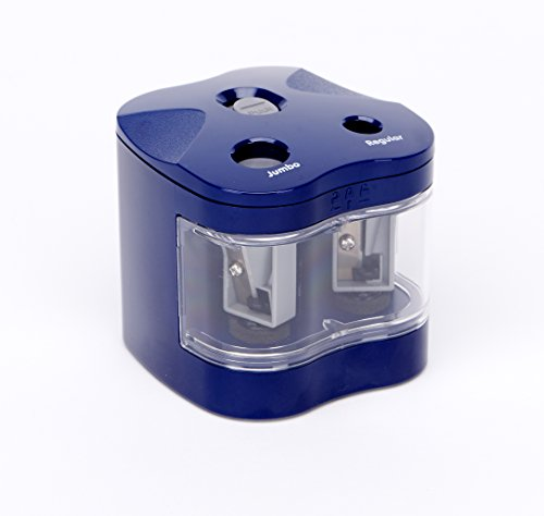 NEU! zoomyo elektrischer Doppel-Anspitzer PS 002   Spitzmaschine für dicke/jumbo und dünne Stifte   Kindersicherung