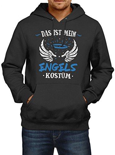 Engel Männer Köln (Shirt Happenz Kostüm Engel Premium Hoody | Verkleidung | Karneval Hoodies | Fasching | Herren | Kapuzenpullover, Farbe:Schwarz;Größe:XXL)