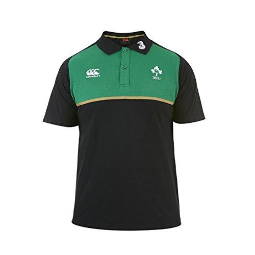 Canterbury Irlanda cotone Formazione Polo, Uomo, Ireland Cotton Training, nero, (Classic Fit Rugby)