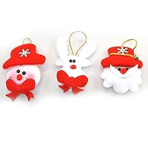 Gifts 4 All Occasions Limited SHATCHI-524 - Juego de 3 adornos para árbol de Navidad con luz LED intermitente, diseño de osito suave, multicolor