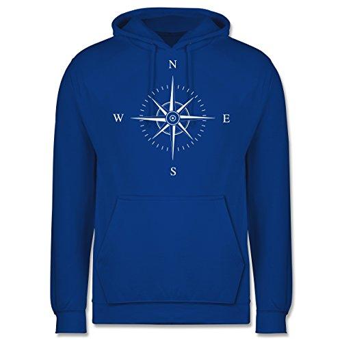 Statement Shirts - Kompassrose - Männer Premium Kapuzenpullover / Hoodie Royalblau