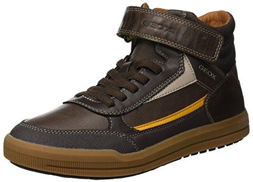Geox Jungen J Arzach Boy A Hohe Sneaker, Braun (Brown/Yellow C0324), 34 EU