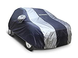 Amazon Brand - Solimo Honda Brio Water Resistant Car Cover (Dark Blue & Silver)