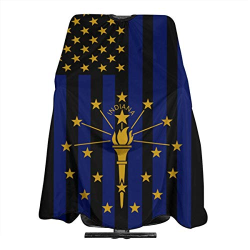 Indiana Flag USA Salon Hair Cutting Cape Cloth Barber Hairdressing Wrap Haircut Apron Cloth Styling Accessory For Unisex