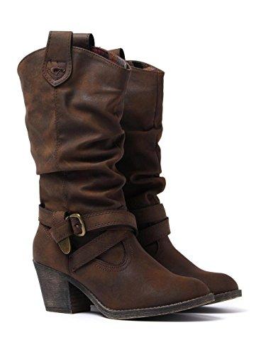 Rocket Dog Women's Sidestep Biker Boots, Brown (Brown), 5 UK 38 EU