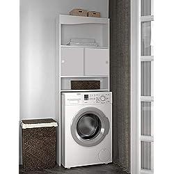 Meuble WC-Machine à laver-Corps blanc-façade blanche/6090A2121A17