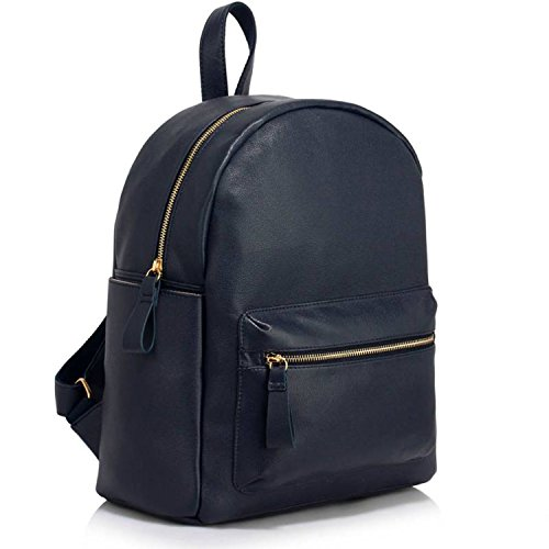Xardi London, Borsa a zainetto donna medium Navy Faux Leather