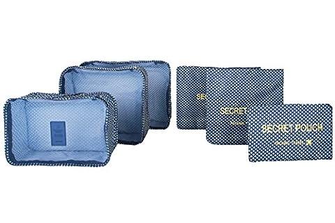 Lovlugga, Organiseur de bagage bleu Navy Blue Plaid