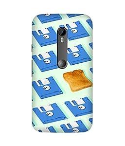 Floppy Bread Printed Back Cover Case For Motorola Moto X3