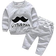 Lylita 2pcs Bambino neonato ragazzi lettera barba top + pantaloni vestiti set outfit vestiti